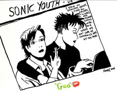 "Love and Rockets-This is the cover of Sonic Youth's 1990 album ""Goo"""