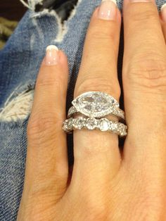 I took a basic Marquise, turned it sideways and added diamonds around it.