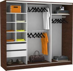 Como hacer ropero guardarropa de madera melamina for Closets funcionales modernos
