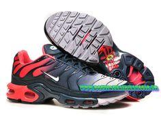 Nike Air Max Tn/Tuned Requin 2015 Pas Cher Chaussures Pour Homme Rouge/noir/gris