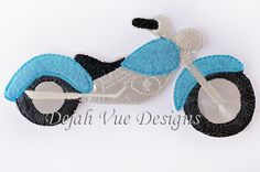 Motorcycle Non Paper Doll Embroidery Design