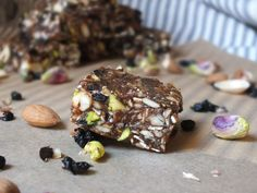 Raw Energy Bars - use gluten free oats