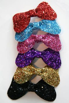 Sparkle Bow Glitter Hair Clip Accessory by Cutie by CutieDynamite, $16.00