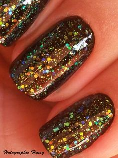 Sinful Colors Nail Junkie over black