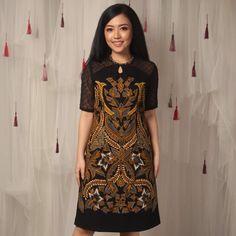 This item will be shipped in 10 Working Days Dress Brukat, Dress Outfits, Fashion Dresses, Model Dress Batik, Batik Dress, Mode Batik, Black And Red Roses, Dresses For Teens, Formal Dresses