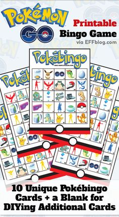 Pokémon GO: PokéBingo  Printable Bingo Game featuring favorite elements from the new app! #pokemongo
