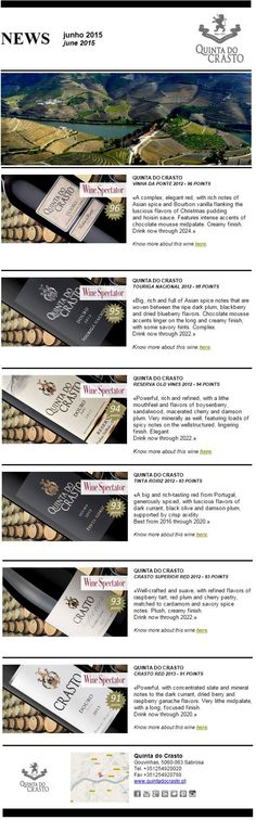 Great Scores at Wine Spectator Insider to Quinta do Crasto Wines