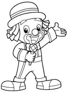 Pattern Coloring Pages, Colouring Pages, Coloring Sheets, Adult Coloring, Coloring Books, Clown Crafts, Circus Crafts, Clown Party, Circus Party