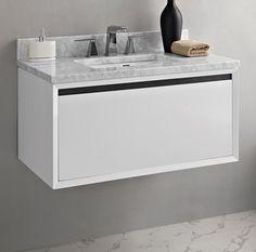 "m4 36"" Wall Mount Vanity - Glossy White - Fairmont Designs - Fairmont Designs"