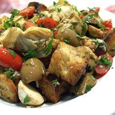 """Panzanella Salad I """"This would be a great dish to bring to a potluck!"""""""