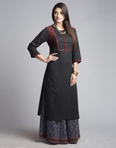 Kurtis has become a very integral outfit it Indian fashion industry. From parties to casual wear for your work every day, Kurtis has become a big fashion statement. The ease of collaborating bright hues with Salwar Designs, Kurta Designs Women, Kurti Designs Party Wear, Blouse Designs, Indian Attire, Indian Wear, Indian Outfits, Indian Dresses, Indian Clothes