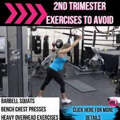 Its scary to not know what you can and can not do during pregnancy.  But exercise is so beneficial during pregnancy. This will help you tons.  http://michellemariefit.publishpath.com/2nd-trimester-exercises-to-avoid