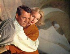 "Cary Grant with Eva Marie Saint in ""North by Northwest"" (1959)"