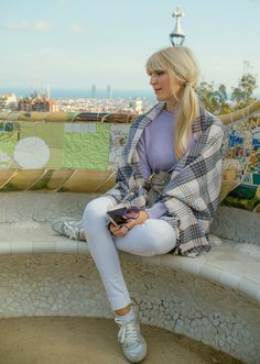 #ParkGuell #scarf #fashion #travel #lifestyle #Gaudí #casual #ootd