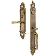 Entry Set. Solid Brass. Made in Italy. Interior mechanism (lock) not included, please contact us.
