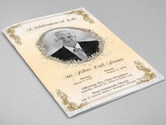 Victorian Funeral Program Template by Godserv Marketplace on Creative Market