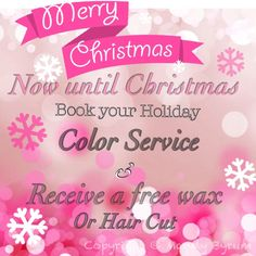 Christmas Hair Salon Special call or Txt me at 980-621-9539 or book online  Http://styleseat.com/mandybyrum