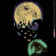 glow in the dark t-shirt | Nightmare before Christmas
