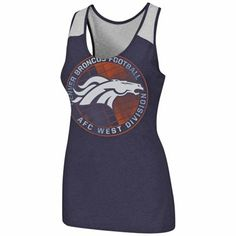 Denver Broncos Women's Play Time Tank Top - Navy Blue
