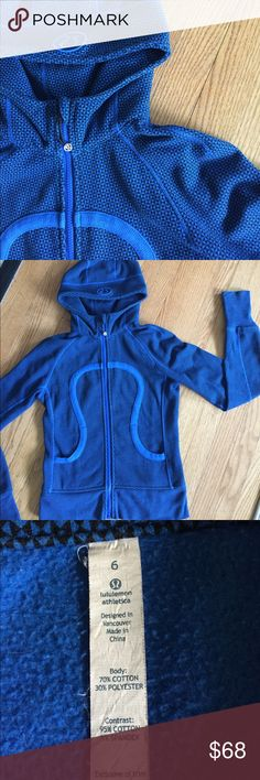 Lululemon scuba hoodie. 🍎 Great hoodie by Lululemon, super thick and warm.  Zip up, front pockets, and yes, thumbholes!  :) lululemon athletica Jackets & Coats