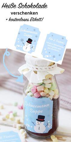 Wie wäre es mit einer heißen Schokolade im Glas als Weihnachtsgeschenk? In meiner DIY Anleitung erfährst du, wie du originelle Geschenke selber machst!