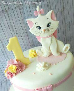 Marie aristocats - cake by Victoria Candy Cakes, Cupcake Cakes, Cupcakes, Aristocats Party, Safari Cakes, Animal Cakes, Disney Cakes, Birthday Cake Girls, Girl Cakes