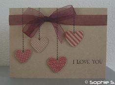la St Valentin m'inspire plus que d' habitude, on dirait ! Voilà ma carte du dimanche pour 365 cards . Decoration St Valentin, Invitation Fete, Diy And Crafts, Paper Crafts, Valentines Diy, Valentine Cards, Thanksgiving Cards, Heart Cards, Love Cards