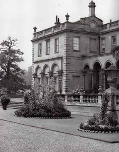 Clumber Park, Worksop, Notts. The original great house, now sadly not there after a fire destroyed the magnificent mansion