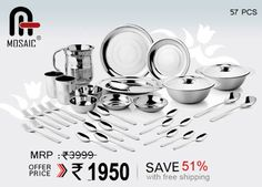 Musaic utensils on best Price with Falcon18 Save upto 51% , best thing to buy .