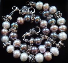 Pearls from a Trollbeads Gallery Forum member!  What a great pearl Collection! Join our forum! http://trollbeadsgalleryforum.ning.com/