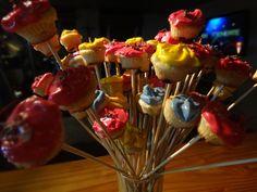 cup cakes mini en flor... y con sabor.