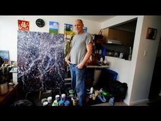 HOW TO PAINT WITH ACRYLIC ABSTRACT EXPRESSIONISM Video #1