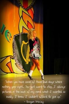 Brogan McCay, 3 time World Irish Dance champion.