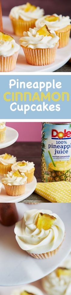 There's always a great excuse to get in the kitchen and bake some mouth-watering pineapple cinnamon cupcakes! No one will be able to say no to these.
