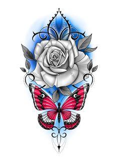 Rose Stem Tattoo, Rose Tattoos, Flower Tattoos, Chicano Art Tattoos, Body Art Tattoos, Sleeve Tattoos, Face Tattoos For Women, Back Tattoos For Guys, Cool Tattoo Drawings