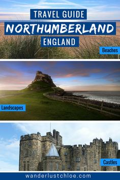 From the most beautiful places to visit, to top things to do and some cute places to stay, it's time to for my travel guide to Northumberland, England. England Beaches, Northumberland England, Uk Holidays, Beach Landscape, Scotland Travel, Beautiful Places To Visit, Newcastle, Strand, Travel Destinations