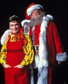 """David Huddleston, """"Santa Claus: The Movie."""" with Dudley Moore and John Lithgow."""