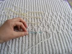 Smocking on a Brioche Rib Knit