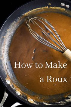 The ultimate guide on How to make a Roux with step-by-step instructions. A roux is used to make gravies, sauces and bases for soups and stews. Creole Recipes, Cajun Recipes, Sauce Recipes, Seafood Recipes, Cooking Recipes, Gumbo Recipes, Roux Gravy, How To Make Roux, Gumbo Roux