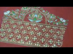 maggam work latest design - YouTube Sleeve Designs, Blouse Designs, Work Blouse, Blue Blouse, Maggam Work Designs, Hand Embroidery Designs, Decorative Boxes, Stitching, Abs