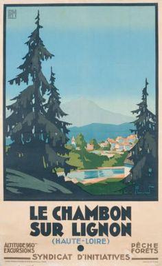 PLM - Le Chambon sur Lignon (Haute-Loire) - vers 1930 - illustration de Pierre Commarmond -