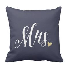 Mrs. Wedding ceremony and Anniversary Blue Throw Pillow. >> See more at the image link