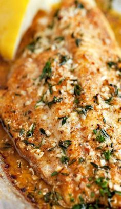 Broiled Catfish with Thyme, Garlic and Lemon