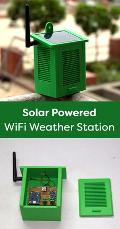 How to build a Solar powered WiFi Weather Station with a Wemos board. The Wemos … How to build a Solar powered WiFi Weather Station with a Wemos board. The Wemos Mini Pro have small form-factor and wide range… Continue reading → Wifi Arduino, Esp8266 Arduino, Arduino Programming, Arduino Board, Arduino Laser, Linux, Electronics Gadgets, Electronics Projects, Diy Tech Gadgets