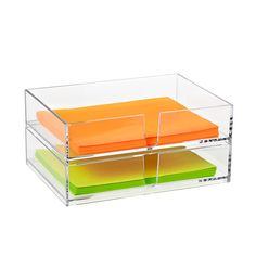 Clear Stackable Letter Holder | The Container Store