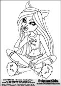 Monster High Dead Tired Outfit Coloring Pages