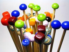 Hand made knitting needles