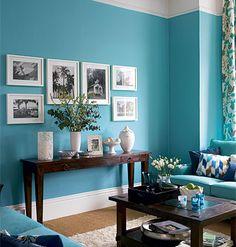 Vibrant blue paint, but still feel relaxing.