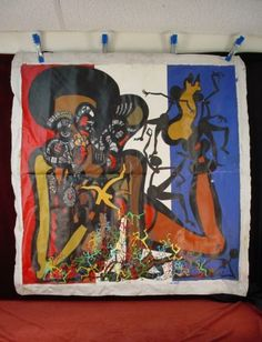 #Large #painting african american unstretched #canvas tribal nude neo expressioni,  View more on the LINK: 	http://www.zeppy.io/product/gb/2/231788909256/