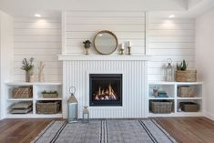 Looking for for ideas for modern farmhouse? Browse around this site for very best modern farmhouse images. This kind of modern farmhouse ideas seems absolutely amazing. Fireplace Built Ins, Shiplap Fireplace, Farmhouse Fireplace, Home Fireplace, Fireplace Remodel, Fireplaces, Fireplace Bookshelves, Living Room Without Fireplace, Craftsman Fireplace